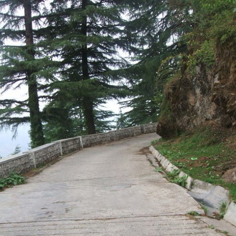 Backroad towards the apartment in Landour MussorrieIndia